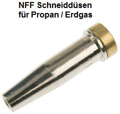 NFF Schneiddüsen für Propan/Erdgas starkes Vorwärmen 2-teilig / Abbildung kann abweichen