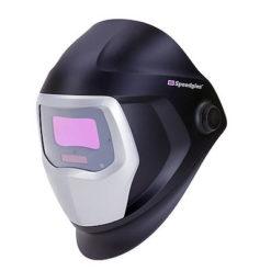 Speedglas 9100 Schweißmaske mit Automatikschweißfilter und Seitenfenstern, Sichtfeld 54×107 mm.