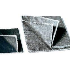 Hitzeschutzabdeckplane von 600 – 800°C belastbar aus schwarzem Karbonfasergewebe