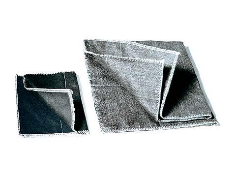 Hitzeschutzabdeckplane bis 1300°C belastbar aus weißem Silikatgewebe Abbildung kann abweichen
