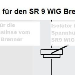 Isolatoren für den SR 9 WIG - Brenner, In zwei Größen lieferbar. Abbildung kann abweichen