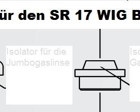 Isolatoren für den SR 26 WIG - Brenner, In vier Größen lieferbar. Abbildung kann abweichen