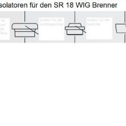 Isolatoren für den SR 18 WIG - Brenner, In vier Größen lieferbar. Abbildung kann abweichen