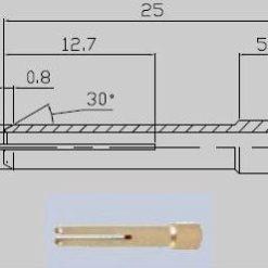 Spannhülsen für den SR 20 WIG - Brenner Abbildung kann abweichen