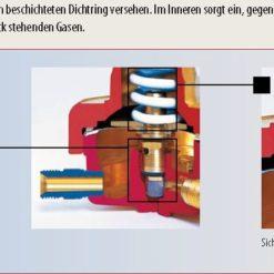 Sicherheitseinrichtung Modell 388-T für Brenngas Abbildung kann Abweichen