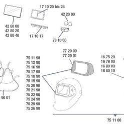 ADF DIN 3/8-12 Ersatzfilter für 3M™ Speedglas™ 100 Black
