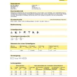ESAB Datenblatt