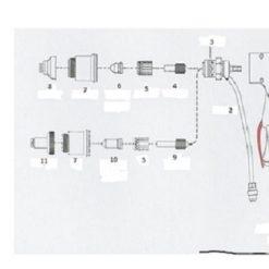 Handbrennerkabel, 6m, Koaxial-Kabel