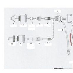 ST-70 Handgriff mit Taster für Handbrenner