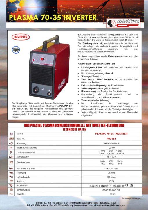 Elettro Plasma 70-35, luftgekühlt-1074