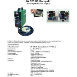 WIG-DC IW 320 HF-Kompakt Woltersdorf, wassergekühlt