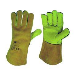 Schweißerhandschuhe PROFI CE EN 388 gelb Gr 11