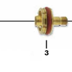 Isolator für Glasgasdüse SR17 / SR18 / SR26 GS Standard