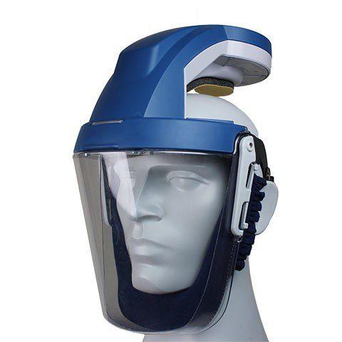 Kompakter Helm mit eingebautem Filtersystem