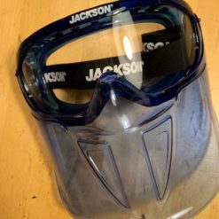 SureWex GPL500 Gesichtsschutzvisier mit integrierter Schutzbrille, klappbar, anti-fog